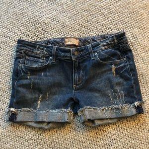 Paige Denim distressed Jimmy shorts size 27